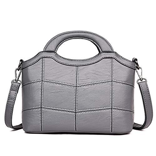 2019 Fashion Pu Leather Women Shoulder Bags Vintage Tassel Large Women Messenger Bags Ladies Tote Bags Sac,Gray ()