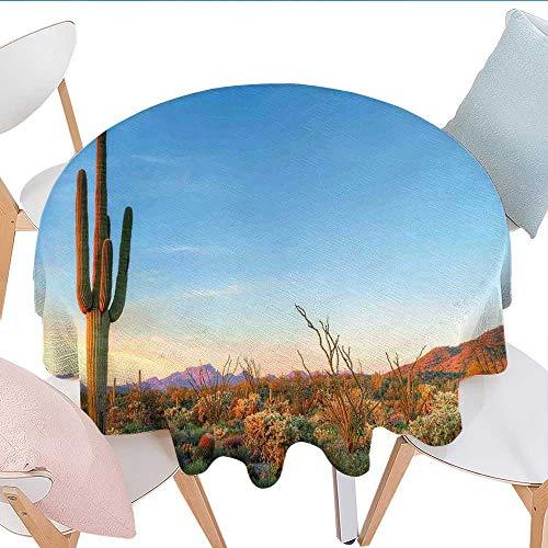 Amazon Com Longbuyer Saguaro Round Vinyl Tablecloth Sun