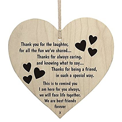 Amazoncom Best Friends Forever Quotes Wooden Sign Heart Shape