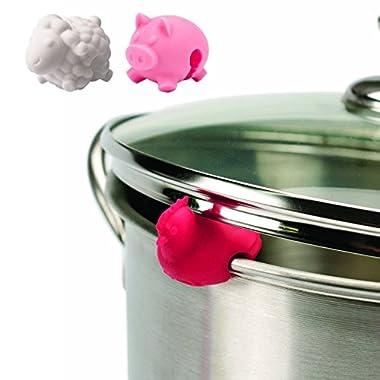 Tovolo Pot Lid Lifts, Farm Animals - Set of 3