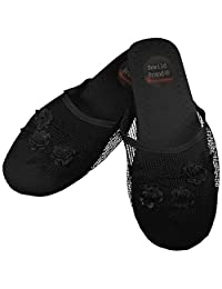 Mesh Chinese Slippers for weddings And Casual Wear (Black)