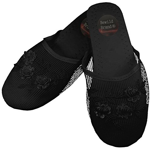 Mesh Chinese Slippers (Black) (Womens 9)