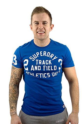 Superdry Herren T-Shirt Blau CHICAGO Blue