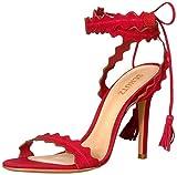 Schutz Women's Lisana Heeled Sandal, Red, 8.5 M US