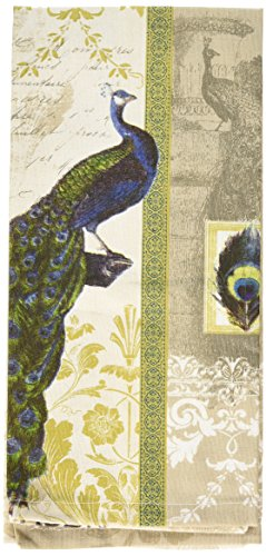 Paperproducts Design 35045 Isbanir Peacock 100-Percent Cotton Kitchen/Bar Towel