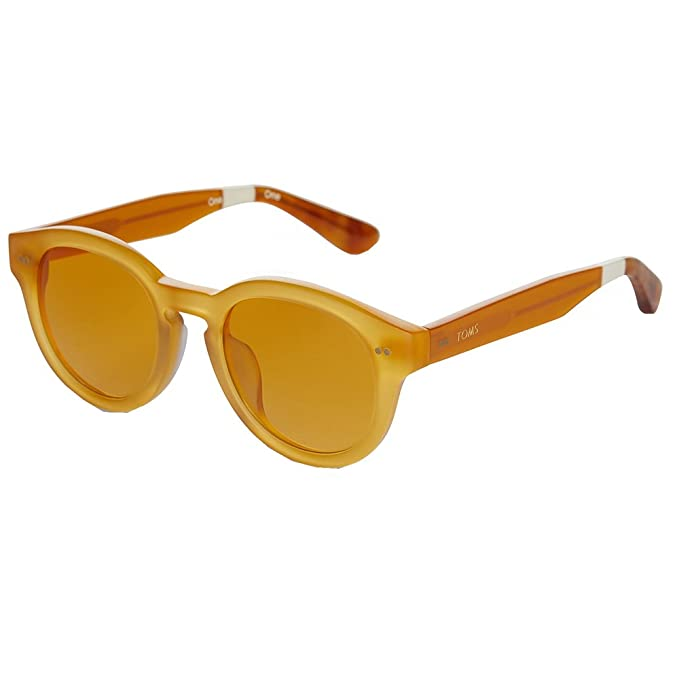 Amazon.com: TOMS 10012317 Mujer Naranja Marco Lente redonda ...