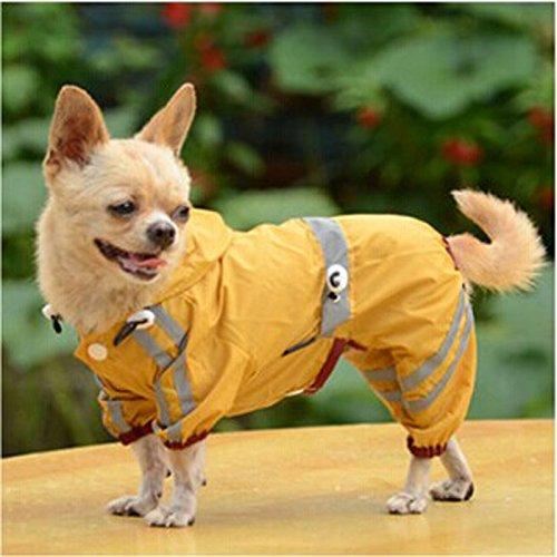 Alalaso Pet Raincoat , New Pet Dog Cat Raincoat Puppy Glisten Bar Hoody Waterproof Rain Jackets (XXL, Yellow)