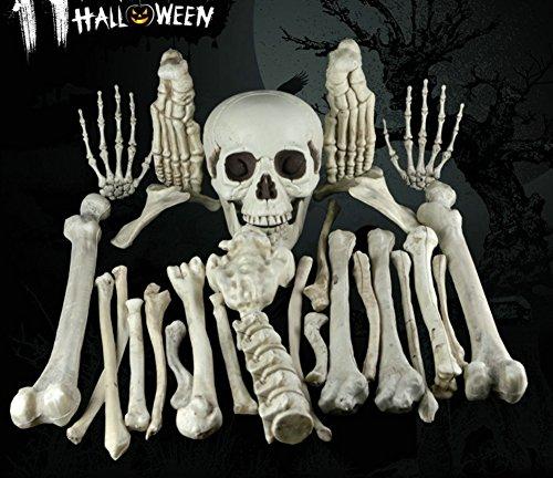 OVOV Halloween Skeleton Bones - Fake Skeleton Prop Figure, Bag of Bones for Halloween Party Decorations, Spooky Haunted House Prop -