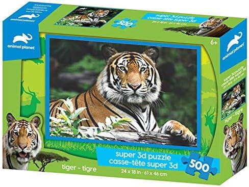 24x18 500 Piece 3D Puzzle Tiger Animal Planet