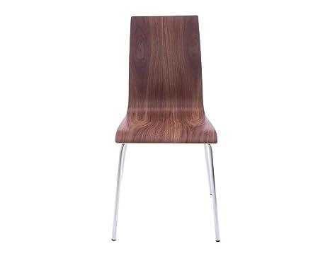 Kokoon design sedia moderna economica in legno noce amazon