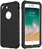 SmileCase  Waterproof Case for iPhone 7 / 8, Full Sealed Underwater IP68 Certified Military Grade Shockproof Cover