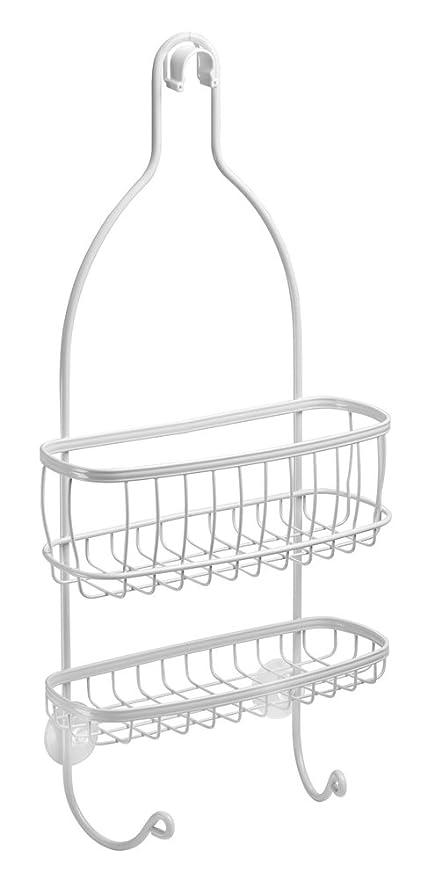 InterDesign York colgador ducha con 2 cestas y ganchos ...