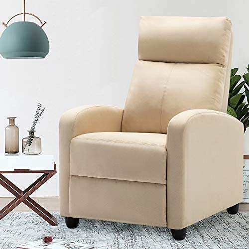 ERGOREAL Massage Recliner Chair Modern Reclining Single Sofa