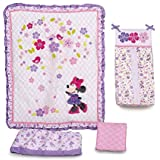 Disney Baby Minnie Mouse Love Blossoms Premier 4-Piece Crib Bedding Set