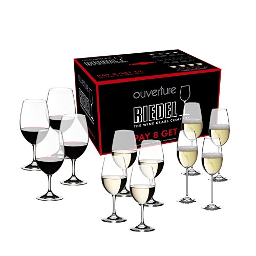 Riedel Ouverture Red and White Magnum Glass and Champagne Flute (Red Glass Mixed)