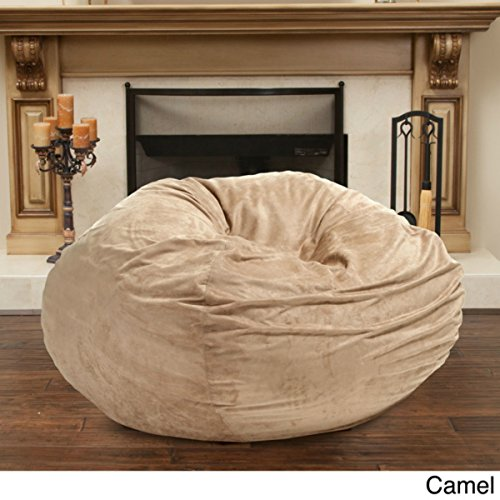 Christopher Knight 5-foot Faux Suede Bean Bag Chair, Camel by Christopher Knight