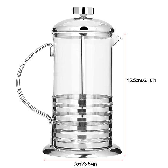 DGTRHTED Prensa Francesa - Máquina de té de émbolo del émbolo del café de Acero Inoxidable (tamaño : 600ml): Amazon.es: Hogar