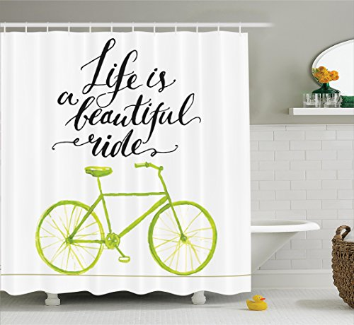 Ambesonne Bicycle Beautiful Bathroom Accessories