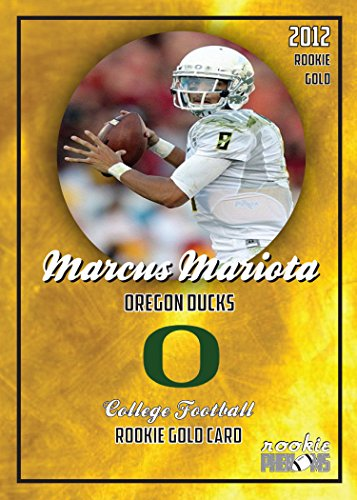 Sets Gold Cracked Ice (MARCUS MARIOTA 2012 OREGON DUCKS COLLEGE ROOKIE GOLD CARD)