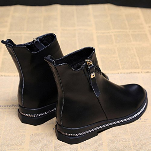 Fashion Martin Boots,Sikye Women Lightweight Pointed Toe Buckle Ankle Rain Boots Slip-on