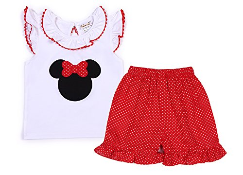 Babeeni Baby Girls 2 pcs Short Set with Minnie Mouse Applique (6M) by Babeeni