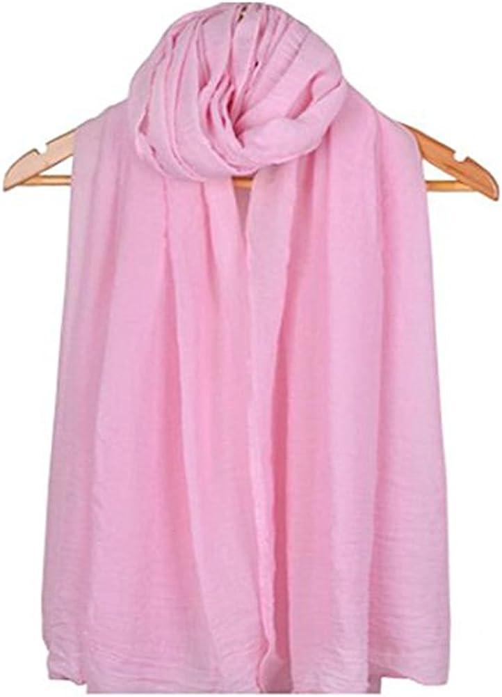 Gespout Pañuelos Bufanda para Mujer de Otoño Invierno Bufanda de Escuela Cómodo Cálido Scarves de Accesorios de Ropa Moda Regalo de Cumpleaños Color Sólido 1pcs 180 * 60cm