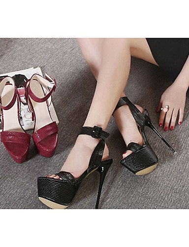us8 Black Mujer Stiletto De Cn40 casual 5 tacón Eu38 tacones Red pu Rojo 5 5 Cn38 Ggx negro Eu39 Zapatos Uk5 us7 5 tacones Uk6 w4qCff