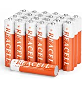 REACELL 24 Packs AAA Rechargeable Batteries for Outdoor Solar Lights, 700mAh NiMH Triple A Batter...