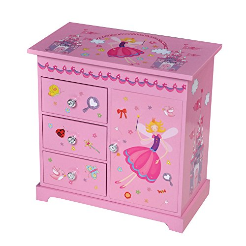 Mele & Co. Krista Girl's Musical Ballerina Upright Jewelry Box (Castles/Fairy Princess) (Child Princess Jewelry Musical Box)