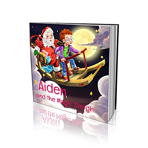 Personalized Story Book by Dinkleboo - The Magic Sleigh - For Kids Aged 2 to 8 Years Old - A Story About Your Child Building A Magic Sleigh - Smooth Satin Paper - Soft Cover (8x 8)