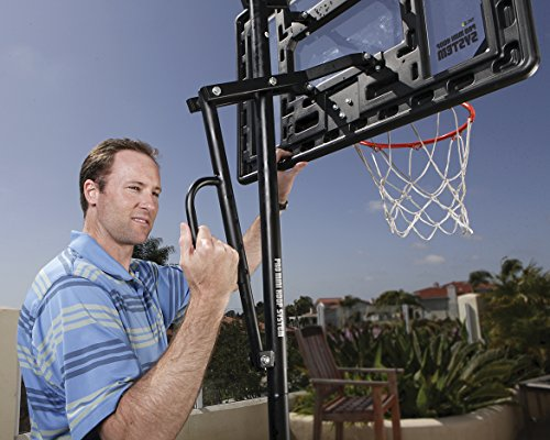 "SKLZ HP08-000 Pro Mini Basketball Hoop System. Adjustable Height 3.5 ft. -7 and 7"" Ball."