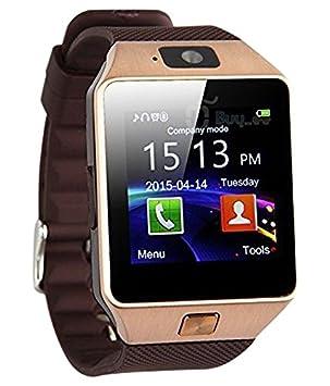 DZ09 Smart watch phone (dorado), Smartwatch Bluetooth ...