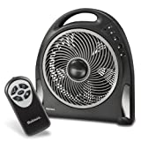 Holmes 12 Inch Blizzard Remote Control Power Fan with Rotating Grill (Kitchen)
