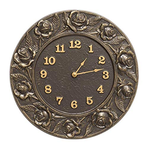 (Whitehall Products Rose Clock, French Bronze)