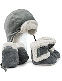 Bomber Hat Set, Winter Boots, Mittens, and Hat to Keep...
