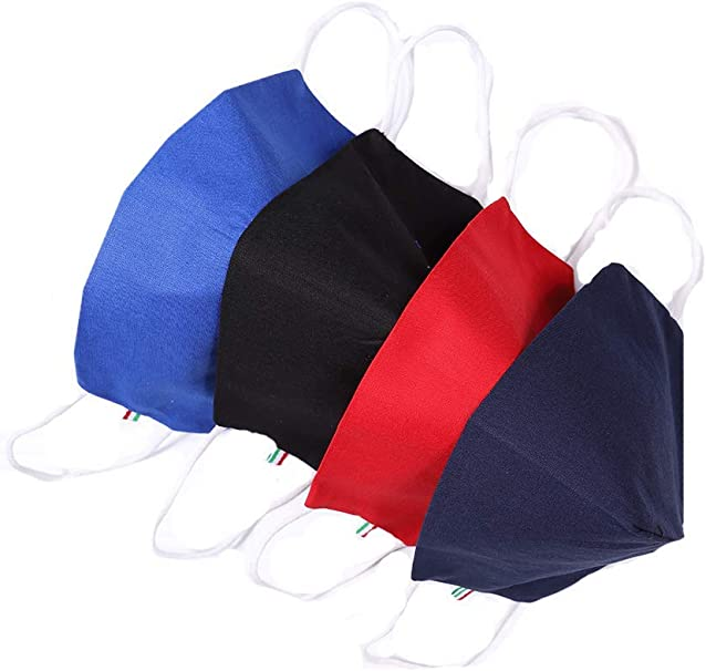 mascherina Filtrante Lavabile Cotone con tasca filtro 5 PZ