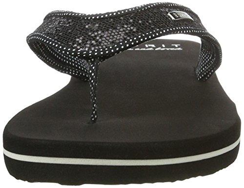 Esprit Glitter Thongs, Zuecos para Mujer Negro (001 Black)