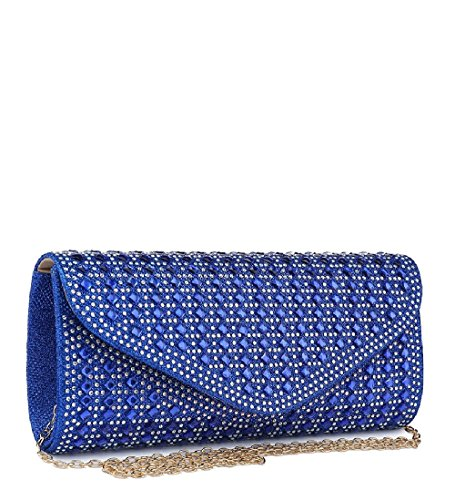 Black Clutch Diamante Ladies Bag Envelope Party Handbag Evening Glitter Women's ME68025 POSO4wq