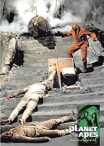 Taylor Activates the Bomb trading card Beneath Planet of the Apes Archives 1999#36 Dr Zaius