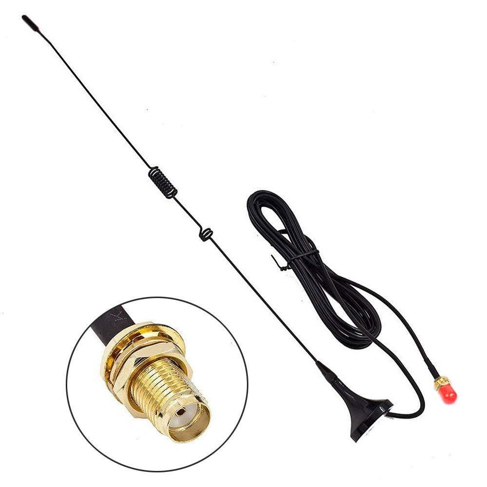 [Verbesserte] TengKo UT-106UV 144/430 MHz 3Db SMA-Buchse Dual Band VHF + UHF Mini Auto Chuck Antenne Ham Radio Antenne für Walkies Talkies