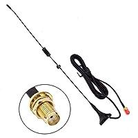 [Amélioré] TengKo UT-106UV 144/430 MHz 3Db SMA-Femelle Double Bande VHF + UHF Mini Antenne De Chuck De Voiture Antenne Ham Radio pour Talkies Walkies