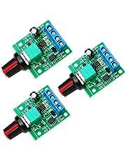 WayinTop 3pcs PWM Low Voltage Motor Speed Controller DC 1.8V 3V 5V 6V 12V 2A 1803BK 1803B Adjustable Driver Switch with Speed Control Knob (Pack of 3)