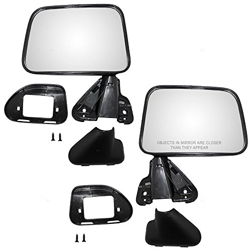 - Driver and Passenger Manual Side View Mirror Textured Replacement for Toyota SUV Pickup Truck 8794089135 8791089135