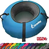 "Bradley Snow Tube Sled with 48"" Cover (Neon Blue)"
