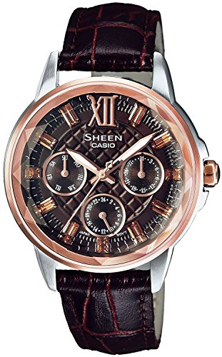 CASIO watch SHEEN Swarovski Crystal index domestic manufacturers warranty SHE-3029GLJ-5AJF ladies with one year