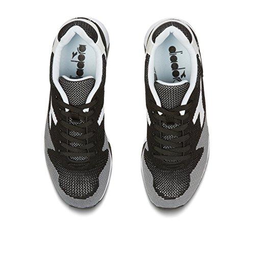 Diadora Sandalias con negro V7000 Unisex blanco Adulto Negro Plataforma Weave C1092 UUTaxwpn