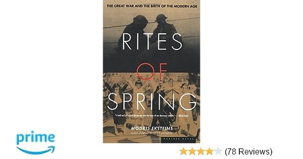 rites of spring eksteins summary