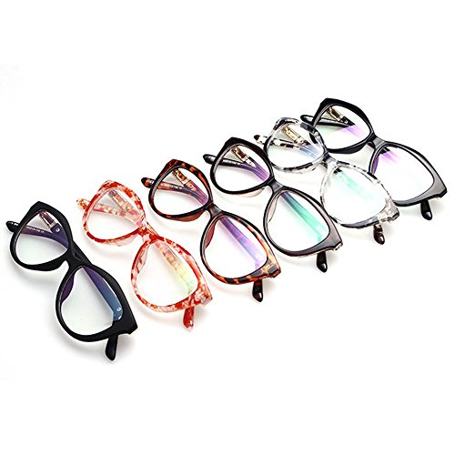 TIJN New Cat Ear Optical Glasses with Clear Lens for Female