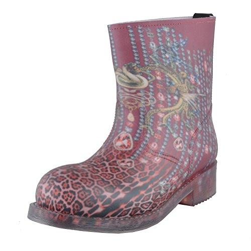 Just Cavalli Kvinnor Flerfärgade Rain Boots Skor Oss 9 Den 39