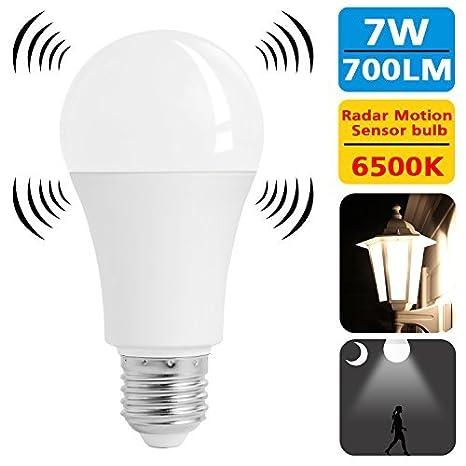 Dusk Smart Equivalent 7w Lamp Lighting 60w Light To Bulb Detector Dawn Base Radar Motion E26 Led Indoor Sunnest Sensor Bulbs 1TcFKlJ
